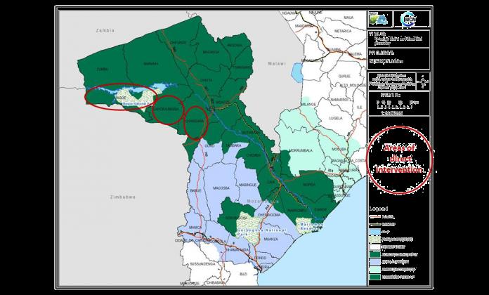 SUSTAIN Mozambique Corridor Map