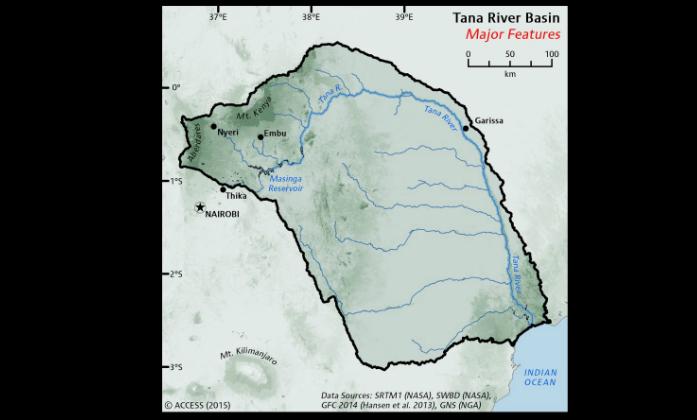 Tana River Basin Kenya IUCN Water - Kenya rivers map